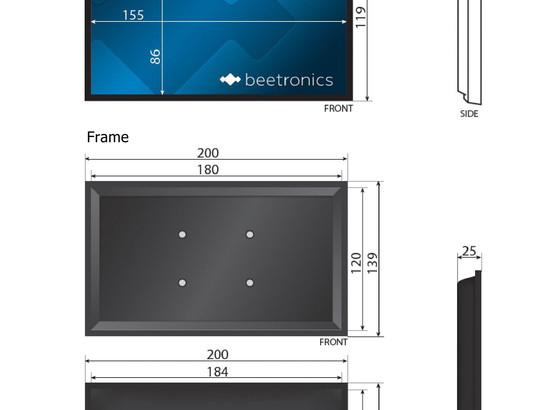 7 tommer skærm (hvid)