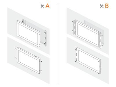 15 tommer skærm metal