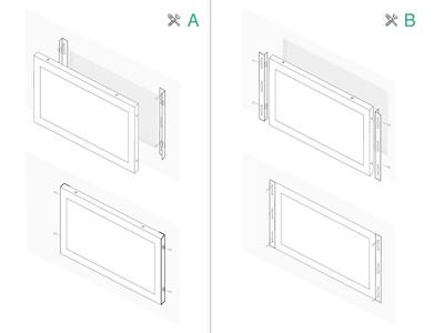 10 tommer skærm metal (4:3)