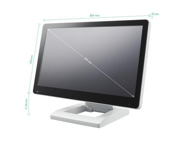12 tommer touchskærm (hvid)